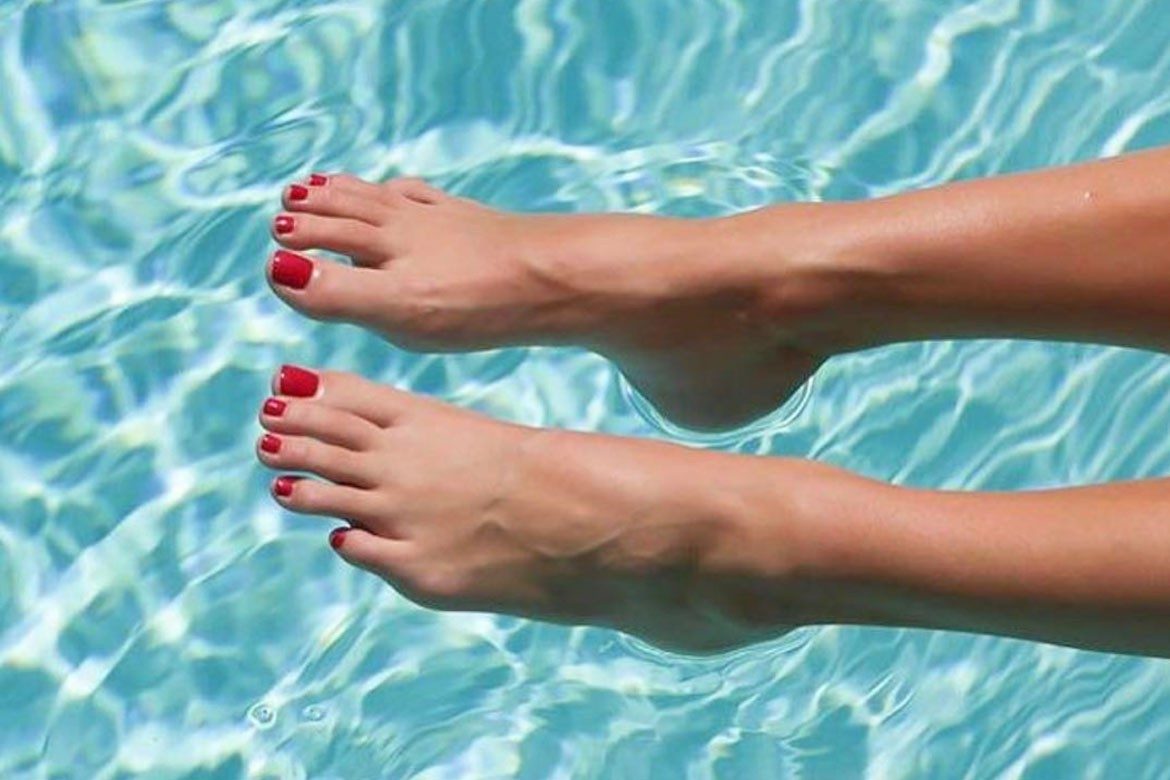 Perfect feet in summer